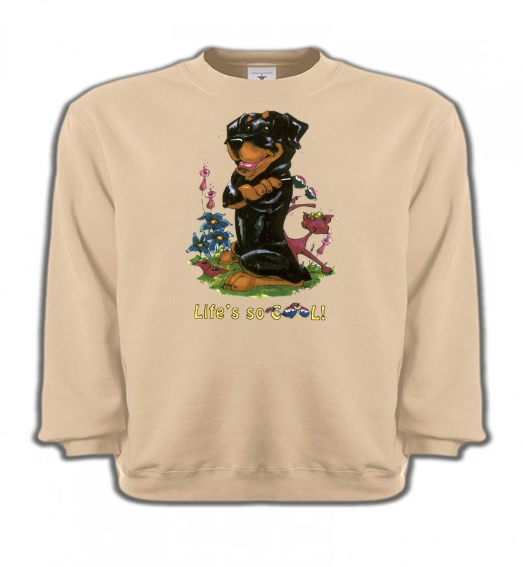 Sweatshirts EnfantsHumour/amourRottweiler Cool (O)