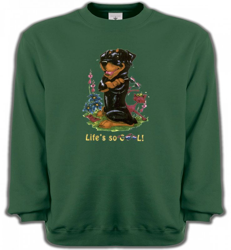 Sweatshirts UnisexeHumour/amourRottweiler Cool (O)
