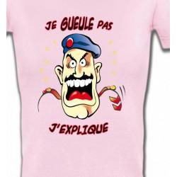 """T-Shirts Humour/amour Marin """"Je gueule pas j'explique"""" (E2)"""