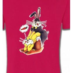 T-Shirts Humour/amour lapins carotte quelle jouissance  (G2)