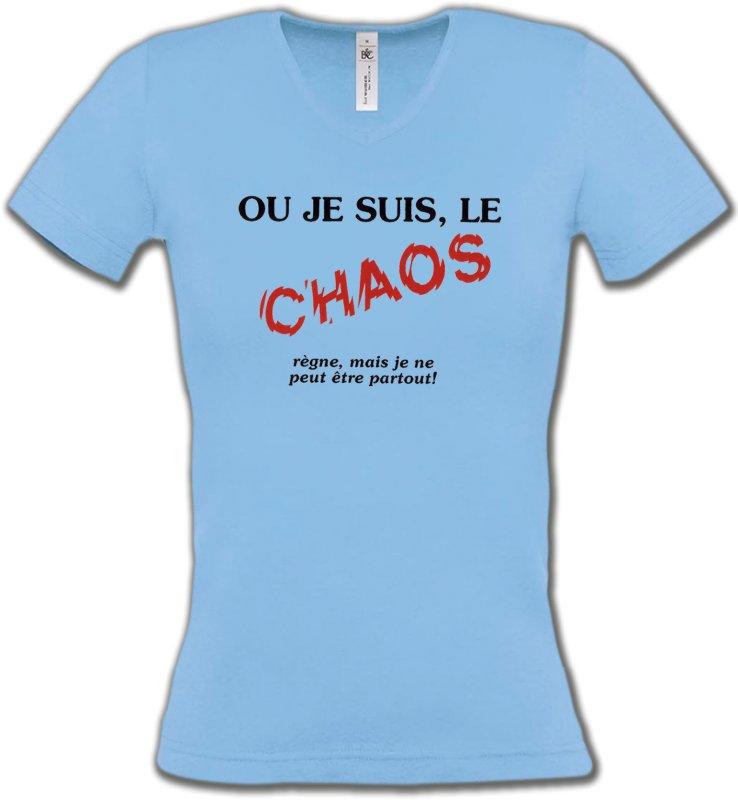 T-Shirts Col V FemmesHumour/amourHumour (N2)