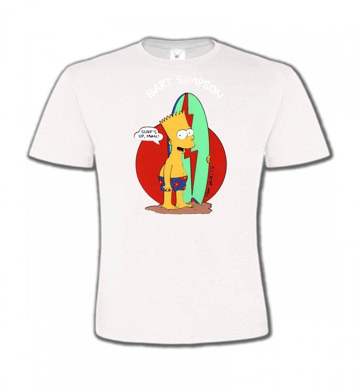 T-Shirts Col Rond EnfantsHumour/amourBart Simpson surf (M2)