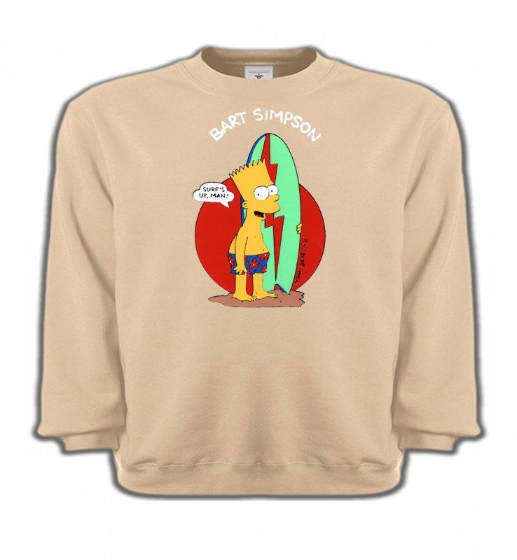 Sweatshirts EnfantsHumour/amourBart Simpson surf (M2)