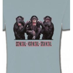 T-Shirts Humour/amour Singes (L)