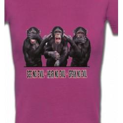 T-Shirts Humour/amour Singes (L)