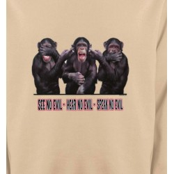 Sweatshirts Humour/amour Singes (L)