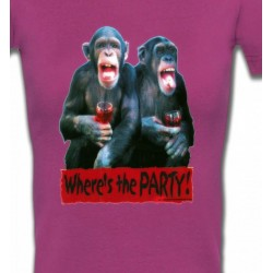 T-Shirts Humour/amour Singes à l'apéro