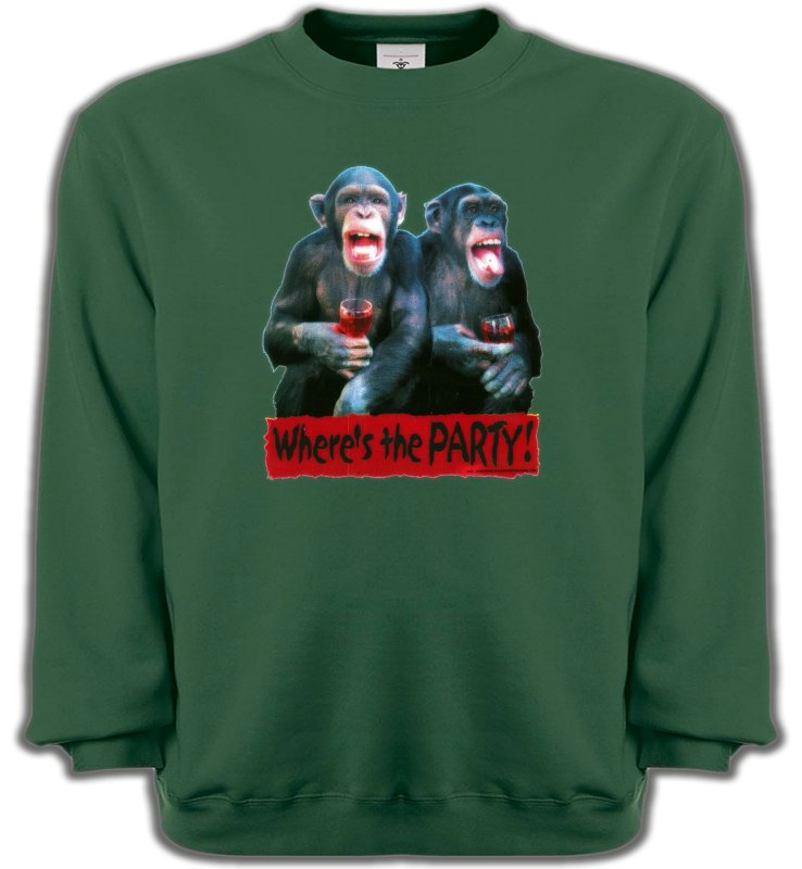 Sweatshirts UnisexeHumour/amourSinges à l'apéro