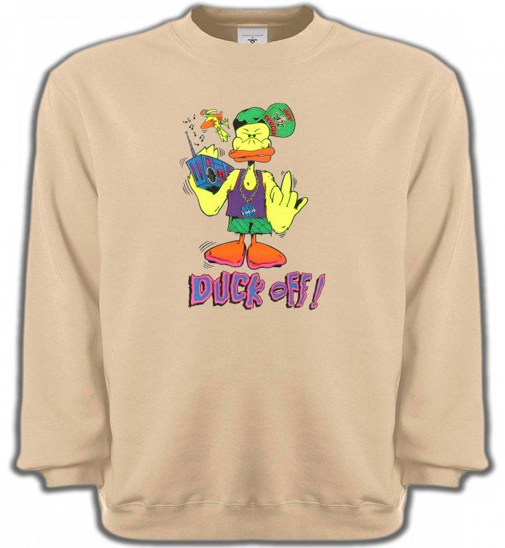 Sweatshirts UnisexeHumour/amourDuck off