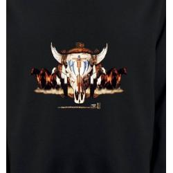 Sweatshirts Sweatshirts Enfants Indien Chevaux et Crâne de Taureau (Q)