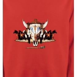 Sweatshirts Sweatshirts Unisexe Indien Chevaux et Crâne de Taureau (Q)