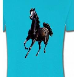 T-Shirts Cheval Marwari Cheval au galop (C)