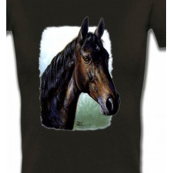 T-Shirts Cheval Cheval brun (W2)