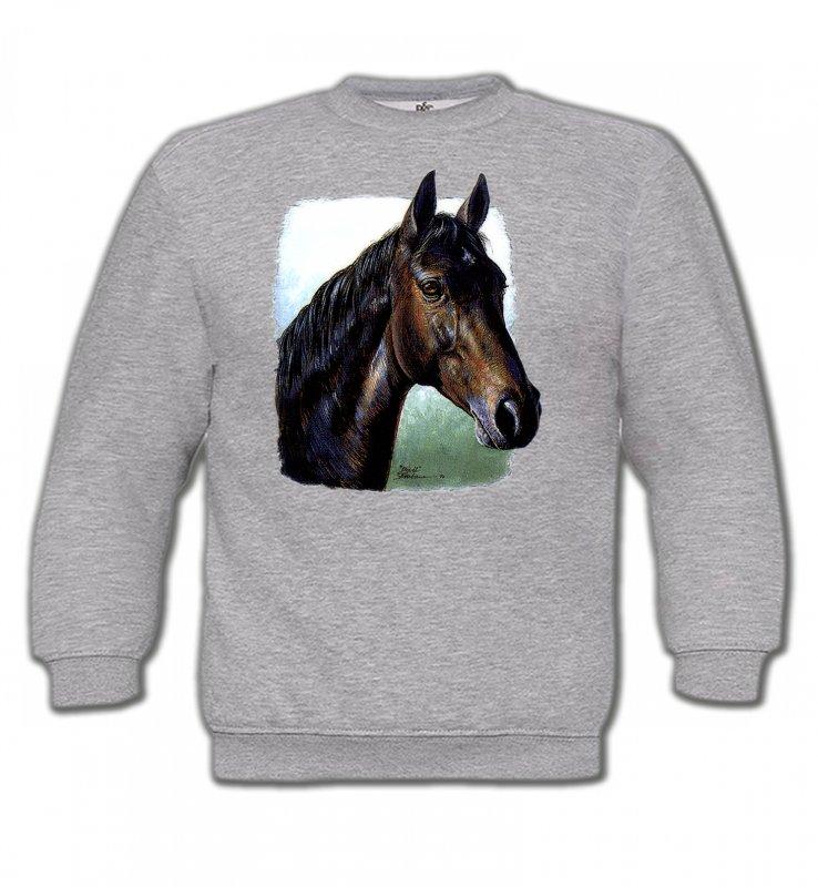 Sweatshirts EnfantsChevalCheval brun (W2)