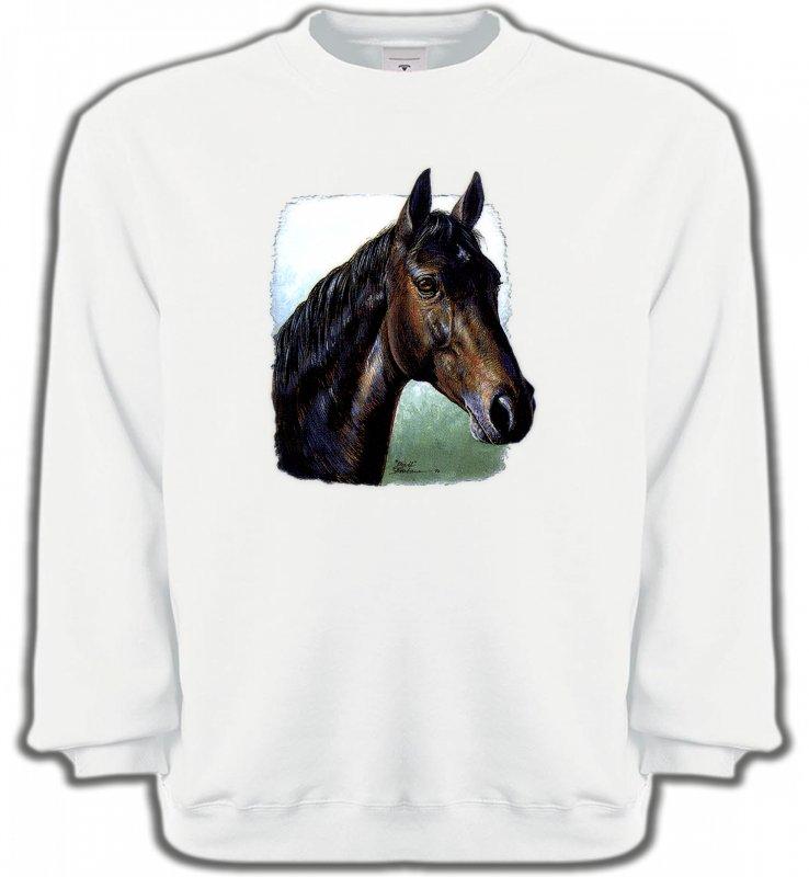 Sweatshirts UnisexeChevalCheval brun (W2)