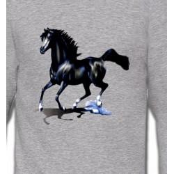 Sweatshirts Cheval pur sang cheval noir (O)