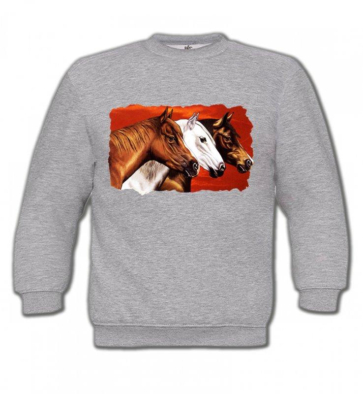 Sweatshirts EnfantsChevalTêtes de chevaux (B4)