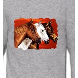 Sweatshirts Cheval Têtes de chevaux (B4)