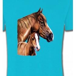 T-Shirts Cheval La jument et son petit (Q2)