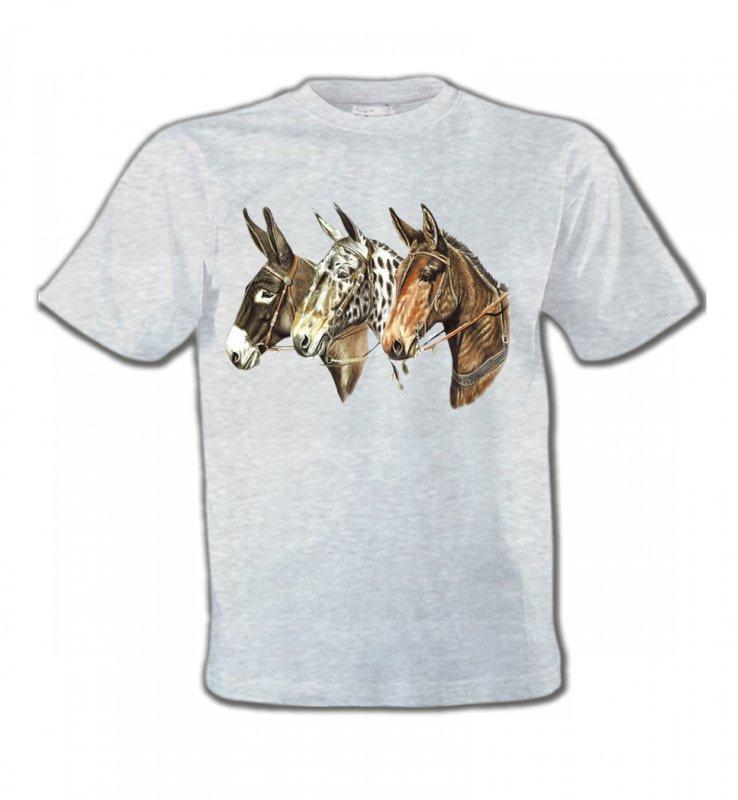 T-Shirts Col Rond EnfantsChevalTêtes de chevaux (F)