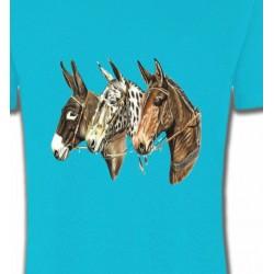 T-Shirts Cheval Têtes de chevaux (F)