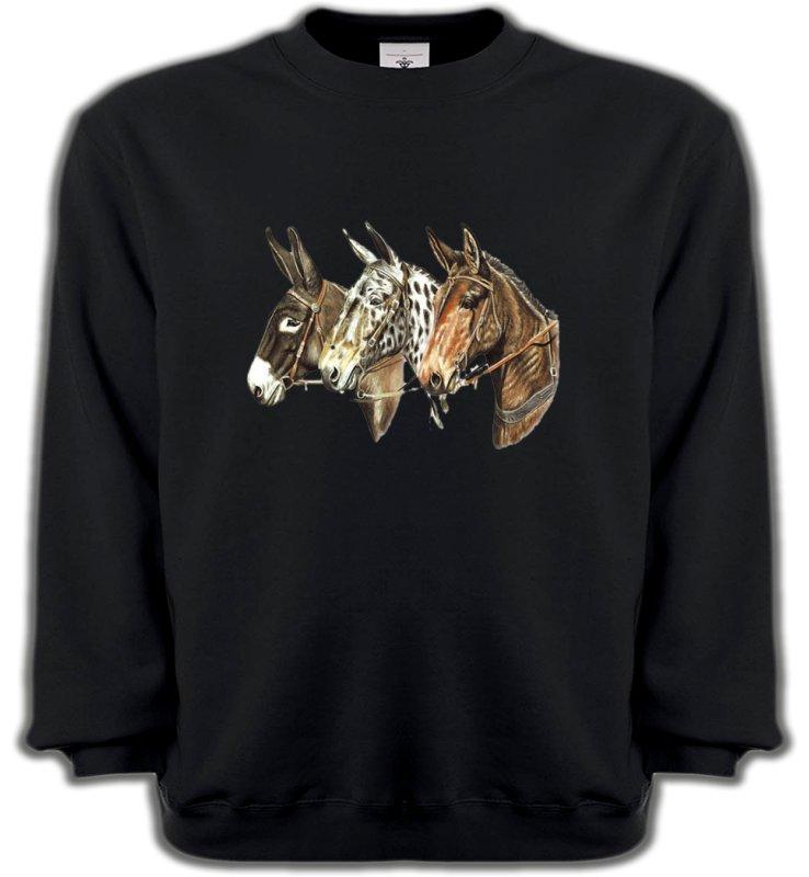Sweatshirts UnisexeChevalTêtes de chevaux (F)