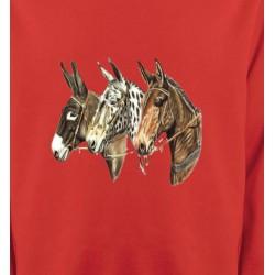 Sweatshirts Cheval Têtes de chevaux (F)