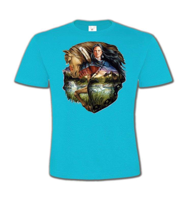 T-Shirts Col Rond EnfantsChevalCheval et indienne (J2)