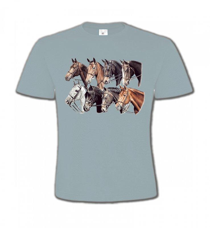 T-Shirts Col Rond EnfantsChevalTêtes de chevaux (L2)