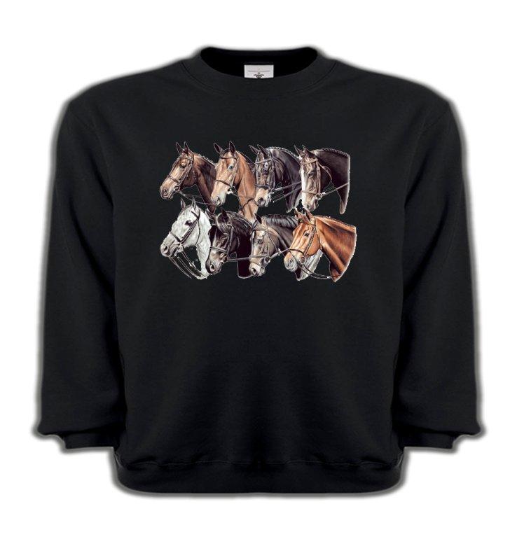 Sweatshirts EnfantsChevalTêtes de chevaux (L2)
