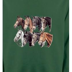 Sweatshirts Cheval Têtes de chevaux (L2)