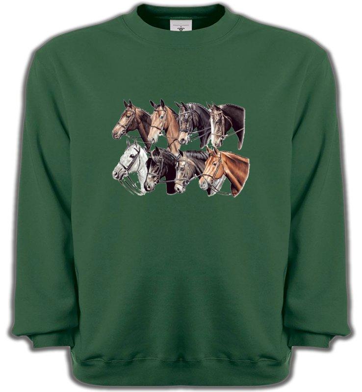 Sweatshirts UnisexeChevalTêtes de chevaux (L2)