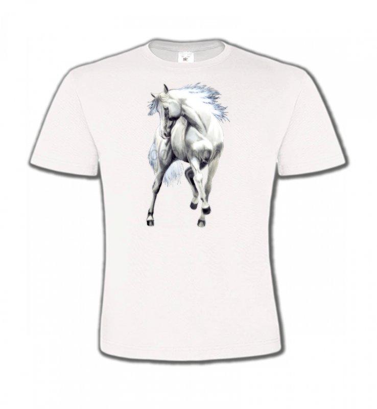 T-Shirts Col Rond EnfantsChevalLe cheval blanc d'andalou (G2)