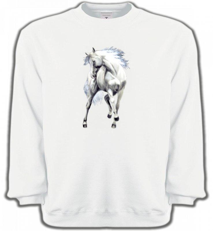 Sweatshirts UnisexeChevalLe cheval blanc d'andalou (G2)