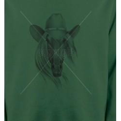 Sweatshirts Cheval Tête de cheval avec chapeau (S)