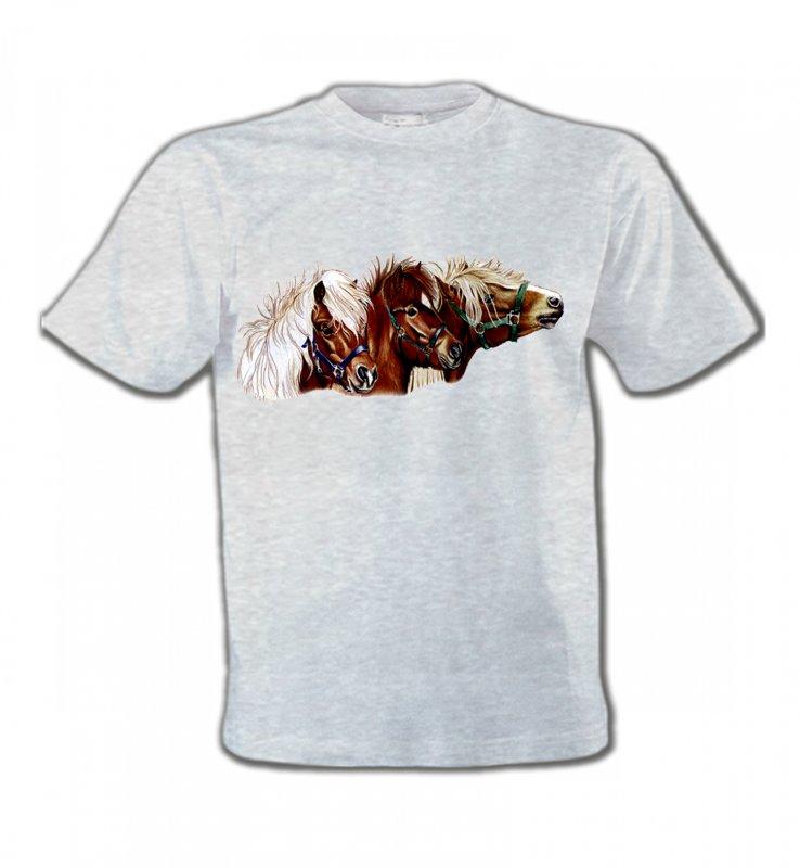 T-Shirts Col Rond EnfantsChevalponey (X2)
