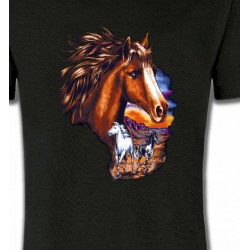 T-Shirts Cheval Canik chevaux au crépuscule sauvages (P)