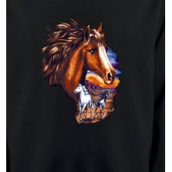 Sweatshirts Cheval Canik chevaux au crépuscule sauvages (P)