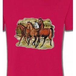 T-Shirts Cheval Chevaux Pur sang au galop (D)