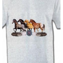 T-Shirts Cheval Appaloosa Chevaux motif indien (E3)