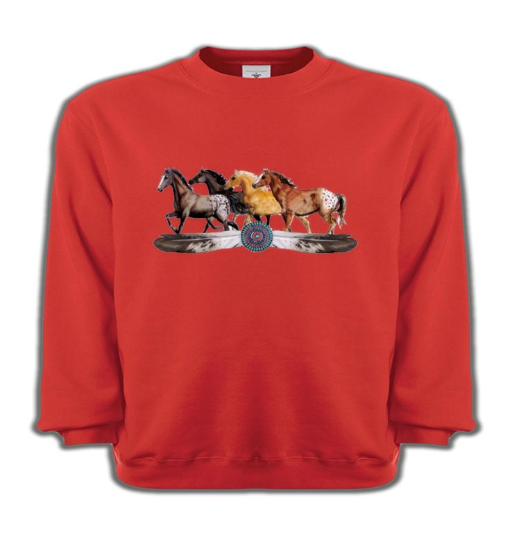 Sweatshirts EnfantsChevalAppaloosa Chevaux motif indien (E3)