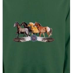 Sweatshirts Cheval Appaloosa Chevaux motif indien (E3)
