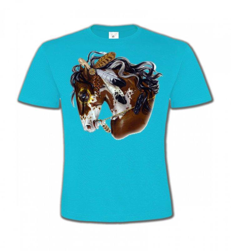 T-Shirts Col Rond EnfantsChevalCheval indien (H2)