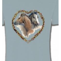 T-Shirts Cheval Coeur têtes de chevaux (I)