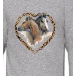 Sweatshirts Cheval Coeur têtes de chevaux (I)