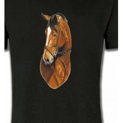T-Shirts Cheval Cheval brun (J)