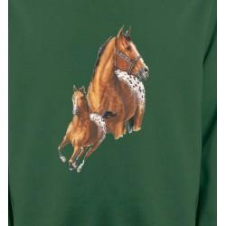 Sweatshirts Cheval T-shirt cheval Appaloosa (G)