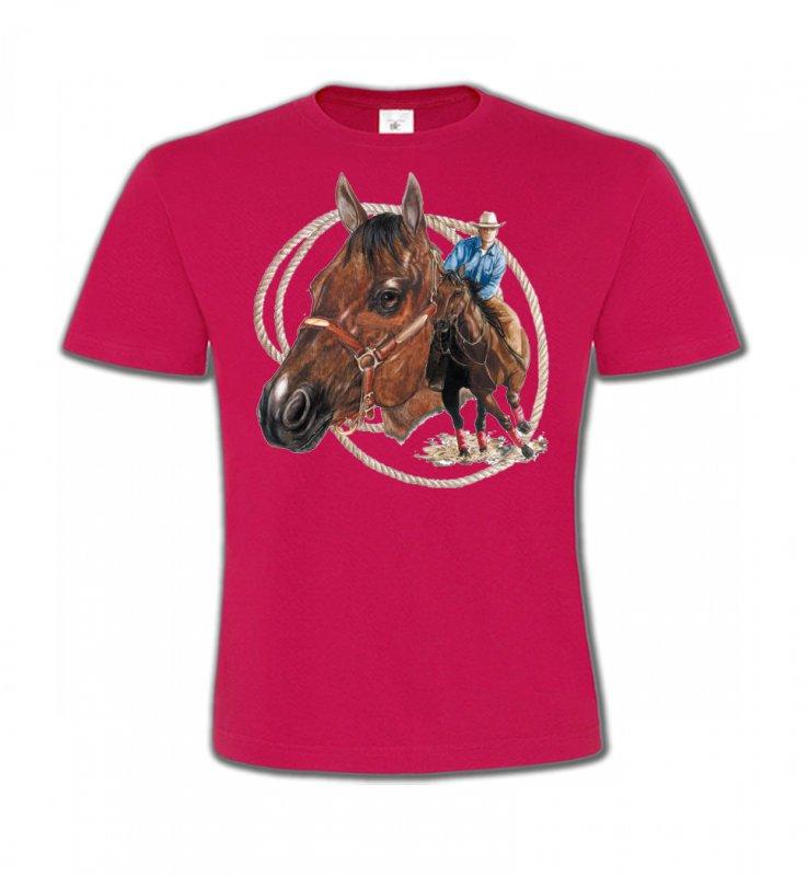 T-Shirts Col Rond EnfantsChevalCowboy et son cheval (E2)