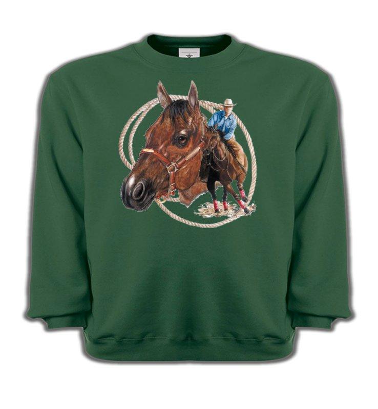 Sweatshirts EnfantsChevalCowboy et son cheval (E2)