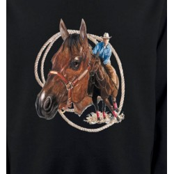 Sweatshirts Cheval Cowboy et son cheval (E2)